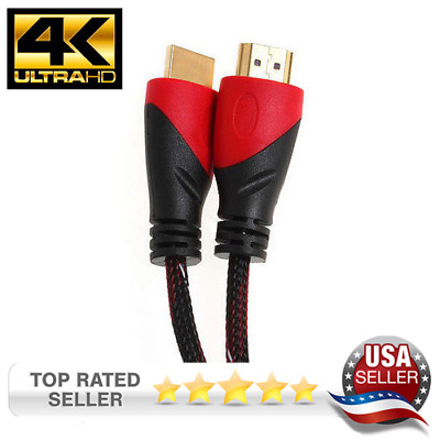 Hdmi Cable Gold Plated 4K For Hdtv Ps4 Dvd Bluray 3D Xbox Pc Mac High Speed 1.4