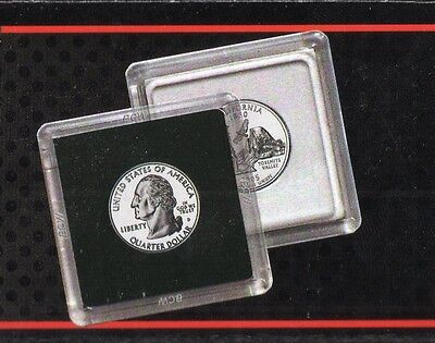 (15) BCW Quarter Coin 2x2 Snaps Display Case Storage Holder Stackable 24.3mm