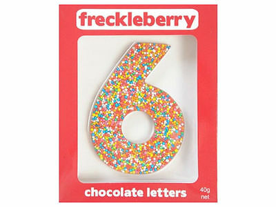 Number 6 Chocolate Freckle Number New Great Unique Gift Present Birthday
