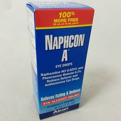 Alcon Naphcon-A Eye Allergy Relief Eye Drops, 30 mL 300650085380T714