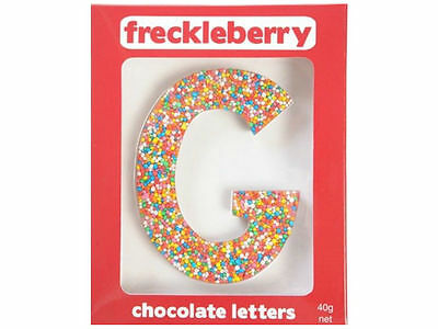 Letter G Chocolate Freckle Letter New Great Unique Gift Present Birthday
