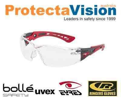 Bolle Rush Plus Safety Glasses Clear Lens 1662301