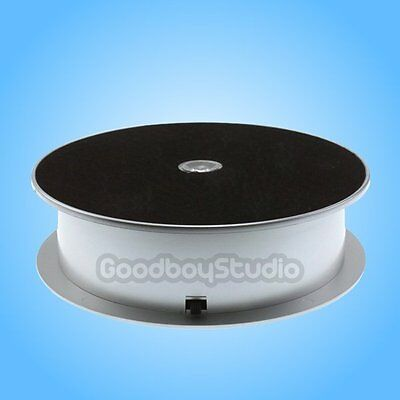 1KG Loading Capacity 16cm LED Light Rotating Display Stand Turntable Silver