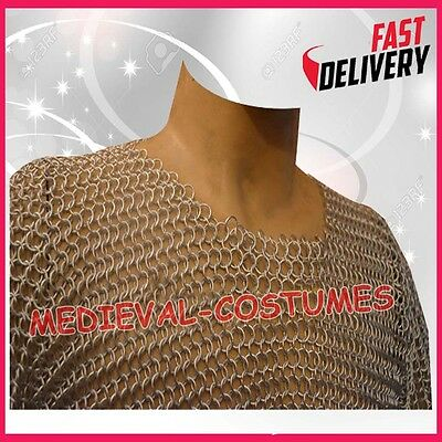 Butted Chain Mail Shirt Aluminum Hauberk Silver Anodizing LARP SCA