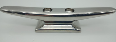 Boat Cleat Narrow Base 316 Polished Stainless steel 150mm Heavy Duty Base New