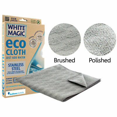 NEW White Magic Eco Cloth Stainless Steel Cleaning Cloth for Appliances Kitchen