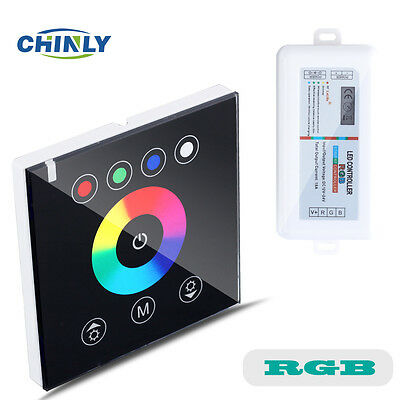 RGB 2.4G Wireless wall switch touch controller led dimmer for DC12V LED strip