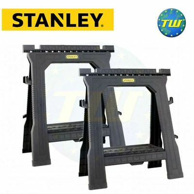 2x Stanley Folding Saw Horse Trestle Support Stand Props STST1-70713 STA170713