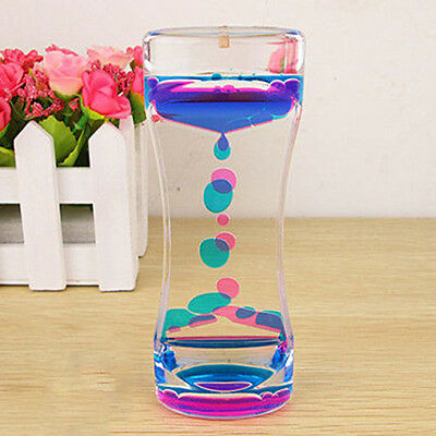 Floating Color Mix Timer Liquid Motion Visual Slim Oil Acrylic Hourglass Clock