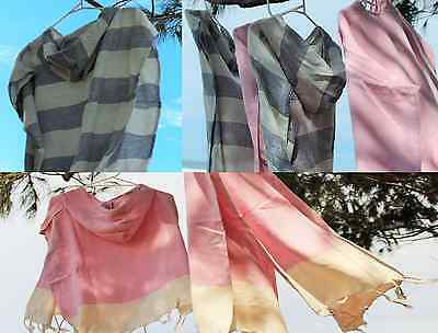 NEW Turkish towel Poncho for Children - hooded - Pink or Blue (3 yrs +)