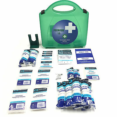 10 Person Medical Home Work Hse Approved Emergency Premier Deluxe First Aid Kit