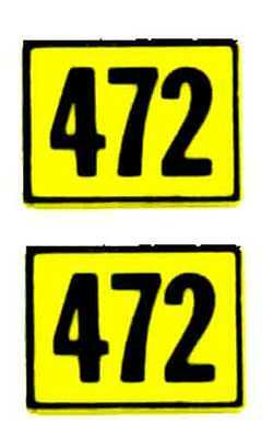 472 ALCO DIESEL SANTA FE ADHESIVE STICKER for American Flyer S Gauge Trains