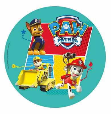 Paw Patrol Birthday Party Cake Wafer Edible Image 20Cm New