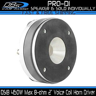 "2"" High Compression Horn Driver 1000W Max 8 ohm Midrange Pro Tweeter DS18 PRO-D1"