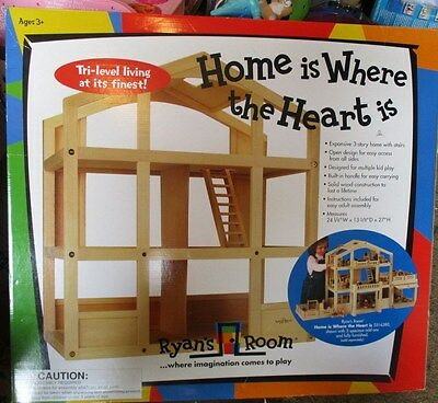 Small World Toys Ryan's Room Wooden Doll House - Home Is Where the Heart Is