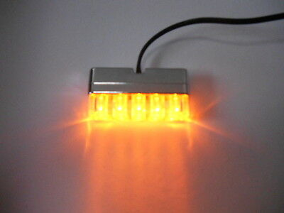 Feu Clignotant Eclairage Plaque Moto Custom Trike Scooter Tuning 5 Leds Orange
