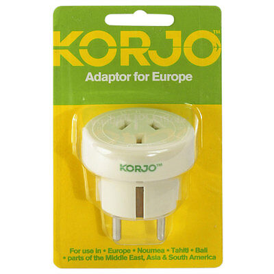 Korjo Travel Adapter For Europe From Australia / New Zealand To Europe