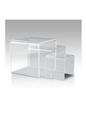 "Acrylic Display Riser Set Of 3Pcs - 6"", 8"" & 10"" - 86-503Cl"