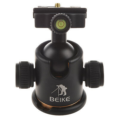 F8 Beike BK-03 Camera Tripod Ball Head Ballhead with Quick Release Plate 1/4""