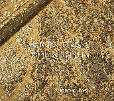 Liturgical vestments brocade fabric metallic 6 105, width is 155 cm-61""