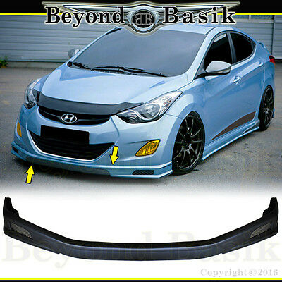 For 2011 2012 2013 HYUNDAI ELANTRA 4Dr 3pc Sequence Style Side Skirts+Front Lip