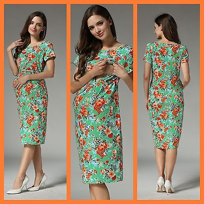 BNWT FLORAL MATERNITY BREASTFEEDING NURSING DRESS SIZE M 10 12 SALE