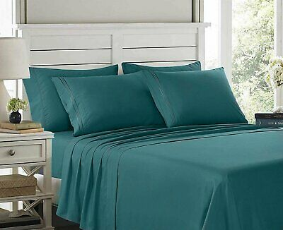Egyptian Comfort 6 Piece Bed Sheets Deep Pocket Brushed Luxury Soft Microfiber