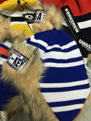 Gongshow Hockey Benchwarmer Toque! Beanie Fur Hat Tuque, OSFM