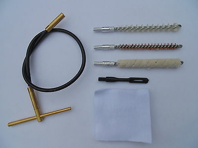 cable cleaning kit, for handgun (pistol),  .22 ca (5.6mm), light and compact