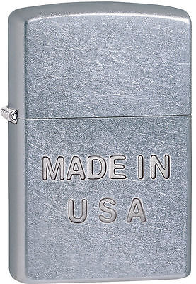 Zippo Windproof Lighter, Made In USA Embossed, 28491, New In Box