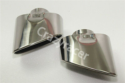 Rear Exhaust Tips Muffler Pipe for BMW E70 X5 07-09 Stainless Steel