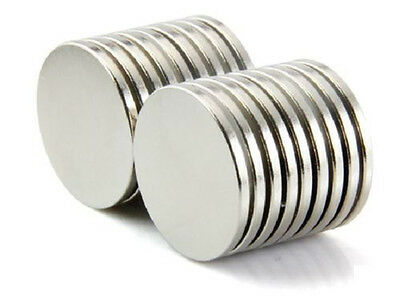 Super Strong Disc Cylinder Round Magnets 25mm X 3mm Rare Earth Neodymium N38