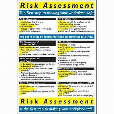 NEW Risk Assessment - 600 x 420mm semi rigid 1mm plastic sign