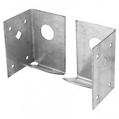 NEW 1 x pair Arris Rail Fence Support Bracket to timber post - Galvanised