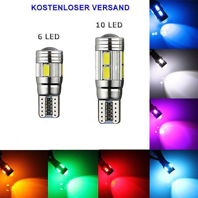 LED T10 w5w 12V CANBUS kalt weiß hell Innenraum Beleuchtung Lese Lampe Licht