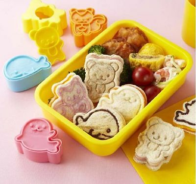Animal Sandwich Mold Food Cutter  Bear Squirrel Whale  Seal   BENTO Decoration