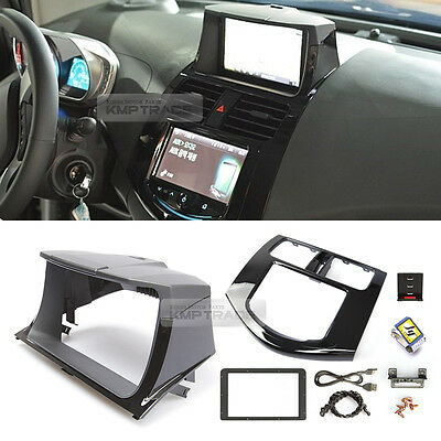 GPS Dash Center Fascia Integrated Audio Black for CHEVY 2013-2015 Spark S Mylink