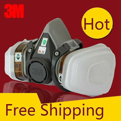 For 3M 6200 6001 7pcs Set Suit Respirator Painting Spraying Face Gas Mask 5N11