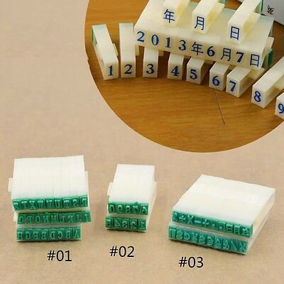 26 English Alphabet Letters Stamps Free Combination Detachable DIY  Rubber Stamp