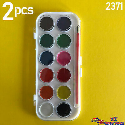 Water Color Paint Palette Set 21 Colors with Brush School Kids Art Drawing TOM
