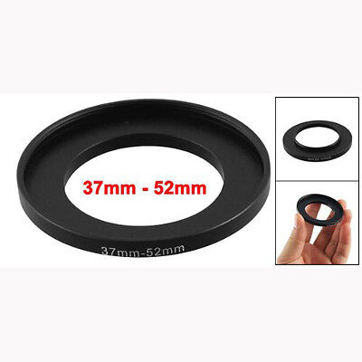 Camera Lens Filter Step Up Ring 37mm to 52mm Adapter Black BF