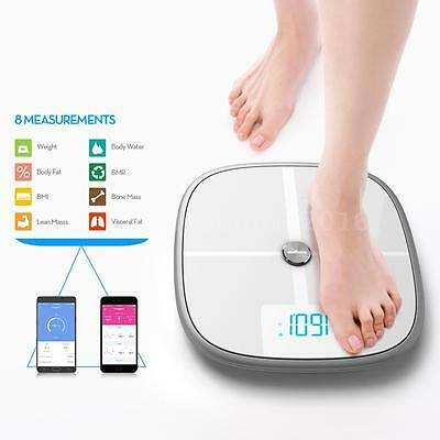Koogeek Smart Health Scale BT WiFi Sync Measures Muscle Bone Mass BMI BMR K6C3