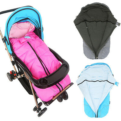 Windproof Baby Stroller Fleece Sleeping Bag Sleepsack Pram Car Seat Footmuffs