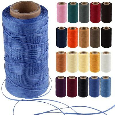 260M 1mm 150D Leather Flat Waxed Thread Cord for Stitching Sewing Craft DIY