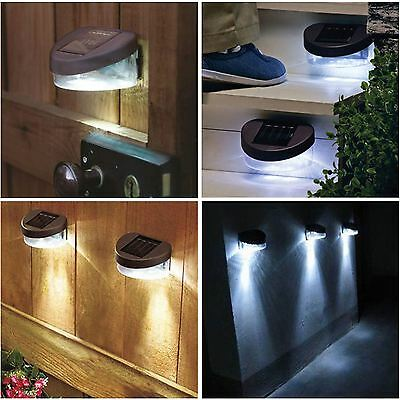 Solar Powered Garden Shed Wall Fence Door Step Lights Outdoor Lighting Lamps