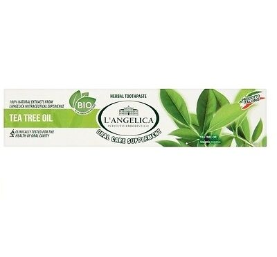 100% NATURAL EXTRACT BIO ORGANIC Herbal Toothpaste L'ANGELICA TEA TREE OIL