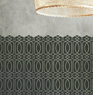 MOROCCAN TRELLIS Fretwork Stencil - Furniture Wall Floor Stencil for Painting