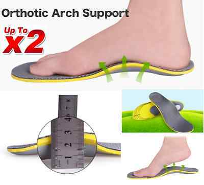 2 Pairs Orthotic Arch Support Shoe Insoles Pads Pain Relief Men/Women Fast Post