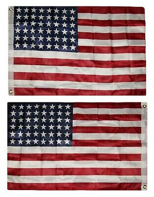 2x3 48 Star USA US American Double Sided 3ply w/ Liner Flag 2'x3' House Banner