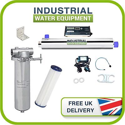 bdad0457f8a 16w UV Ultra Violet Water Filter Disinfection Stainless Housing Kit 11l pm  - 3